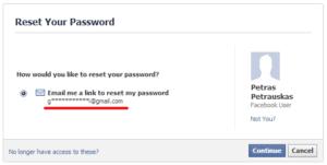 Facebook slaptažodis