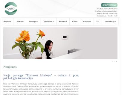 Romuvos klinikos tinklapis